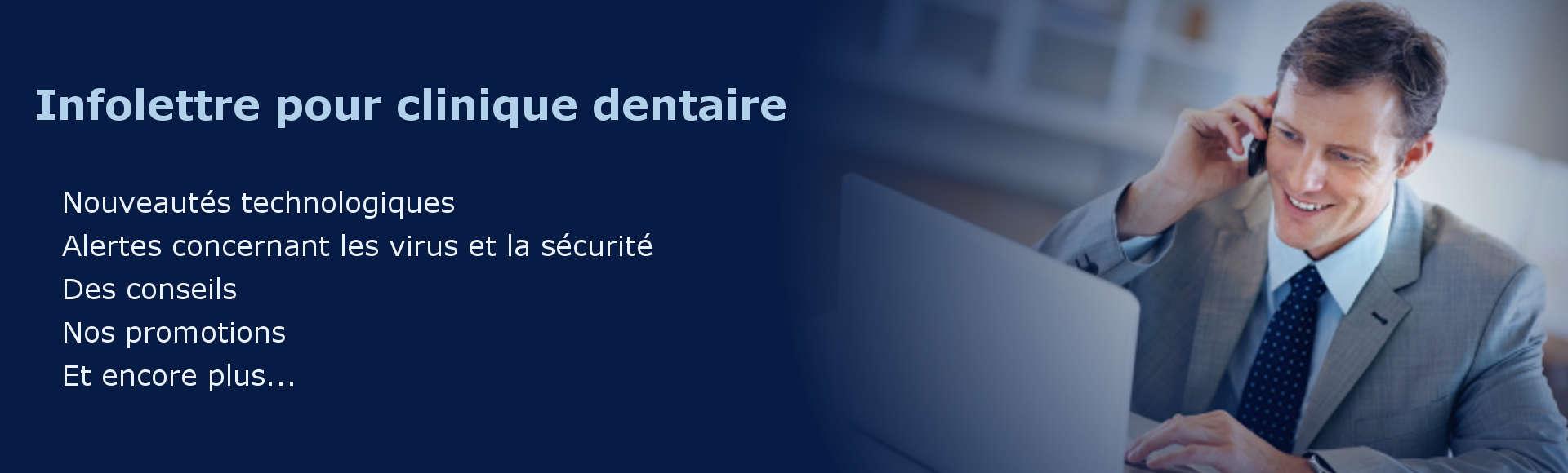 Infolettre pour cliniques dentaires